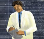 Illustration, doctor in white lab coat