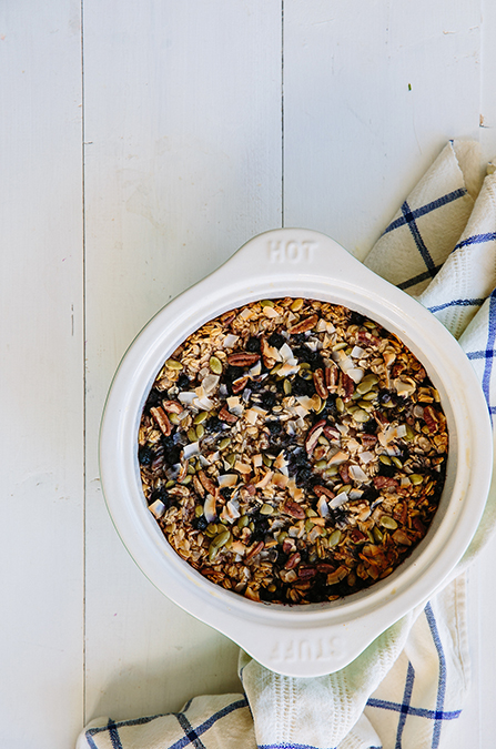 Coconut-Banana-Blueberry-Baked-Oatmeal